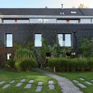 Residential Living Wall Pairs Façade Greening with Modern Architecture